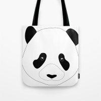 Panda Preto Tote Bag