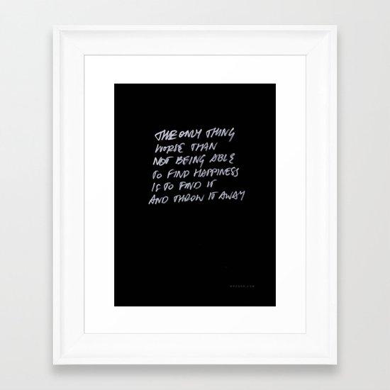 Throw Away Framed Art Print