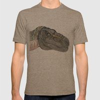 T-Rex Mens Fitted Tee Tri-Coffee SMALL