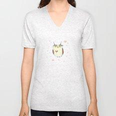 Owl Heart Unisex V-Neck