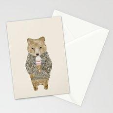 sundae bear Stationery Cards