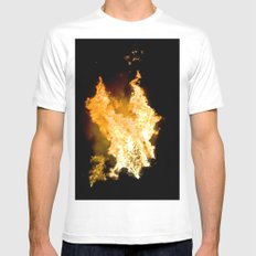 Face in the Flames Mens Fitted Tee White SMALL