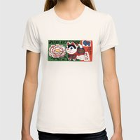 Botan Rice Candy Meow Womens Fitted Tee Natural SMALL