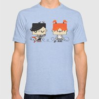 Love Song Part II Mens Fitted Tee Tri-Blue SMALL