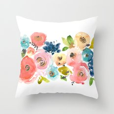 Floral POP #2 Throw Pillow