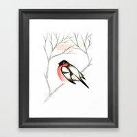 Eurasian Bullfinch (Сн… Framed Art Print