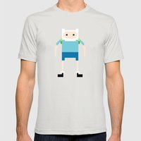 Finn Mens Fitted Tee Silver SMALL