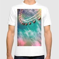 La Roue Et Le Ciel Mens Fitted Tee White SMALL