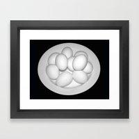 Eggs Still Life Framed Art Print