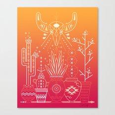Santa Fe Garden – Orange Sunset Canvas Print