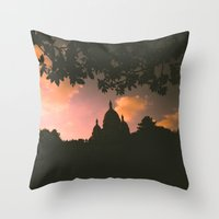 Sacre-Coeur, Paris. Throw Pillow