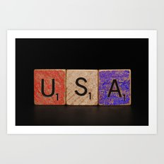 USA Tile Art Print