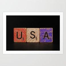 USA Tile Art Print