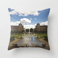 Mannheim Augustaanlage Throw Pillow