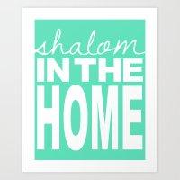 Shalom In The Home, Sea … Art Print