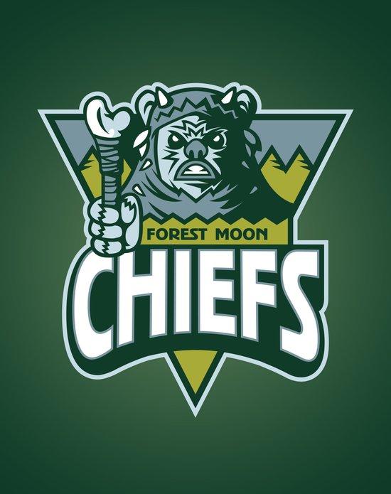 Forest Moon Chiefs - Green Art Print