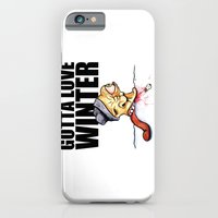 iPhone & iPod Case featuring Gotta love winter by The Being art