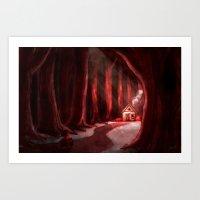Little Red Art Print