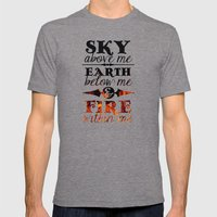 Sky Earth Fire Mens Fitted Tee Tri-Grey SMALL