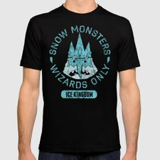Bad Boy Club: Snow Monsters, Wizards Only SMALL Mens Fitted Tee Black
