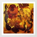 Vintage Flowers and Fruits Art Print