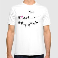 Best Bird Buddies Mens Fitted Tee White SMALL