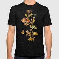Chrysantheme Mens Fitted Tee Tri-Black SMALL