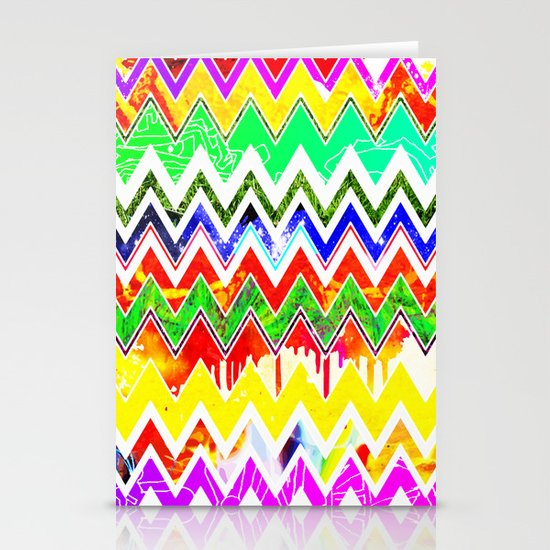 Waves of Colour Stationery Card