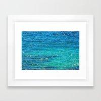 SPARKLE SEA Framed Art Print