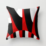 Black And White Meets Re… Throw Pillow