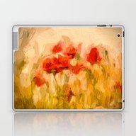 Fiery Poppies In A Golde… Laptop & iPad Skin