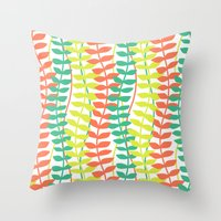 seagrass pattern - tropical Throw Pillow