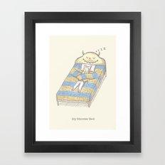 My Monster Bed Framed Art Print