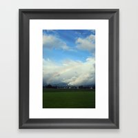 Clouds And Rainbows Framed Art Print