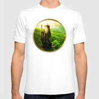 Gandalf's Return - Paint… Mens Fitted Tee White SMALL