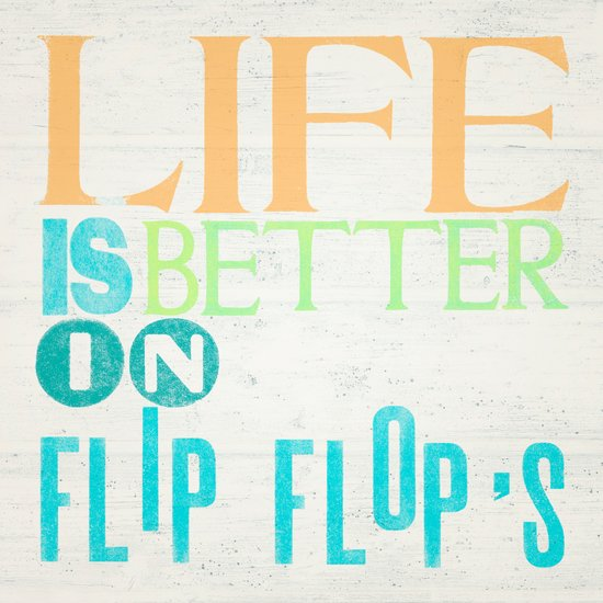 LIFE IS BETTER IN FLIP FLOPS Canvas Print