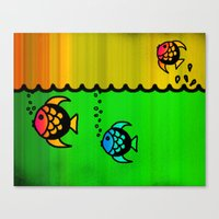 Slippery Fish Canvas Print