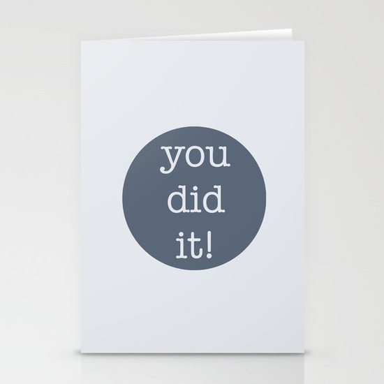 You Did It! Stationery Card