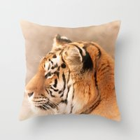 Amur Tiger Throw Pillow
