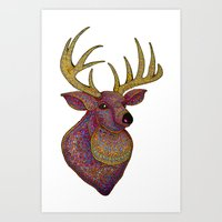 Darling, Detailed Deer Art Print