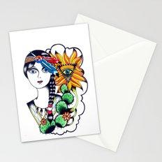 Cactus Eye Tattoo Style Stationery Cards