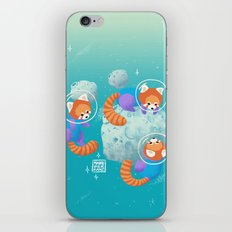 Red Space Pandas Blue Sk… iPhone & iPod Skin