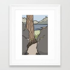 Trail Tree Framed Art Print