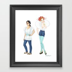 Fashion Journal: Day 6 Framed Art Print