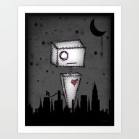 robot Art Prints featuring Robot by Impale Design