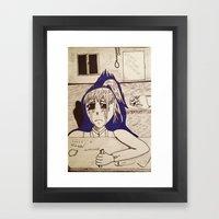 Suicidal Girl Framed Art Print