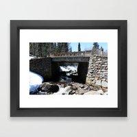 Trail Bridge Framed Art Print