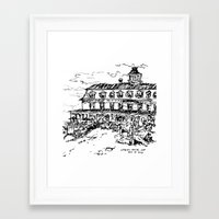 Spring House Inn, Block Island Framed Art Print