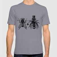 a fly marrying a bumblebee Mens Fitted Tee Slate SMALL