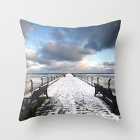 Saltburn By The Sea Throw Pillow